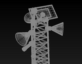 A scare-bird pole 3D