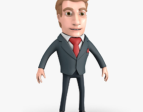 Businessman Cartoon Character 3D model