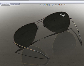 Ray Ban Aviator glasses 3D model