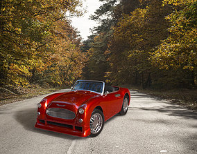 3D model Car Austin Healey 500 Topless AAA
