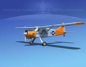3D model Dehaviland DH-2 Beaver USAF 3