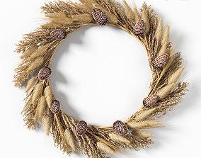 Dry grass wreath 3D model
