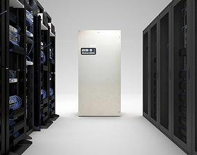 Server Room HD 3D model servers
