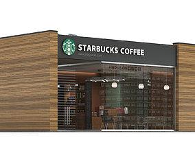 3D Starbucks coffee shop 3