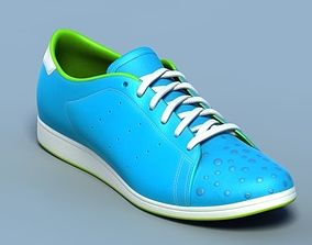 3D model Sports shoes 05 blue white