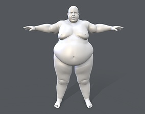 3D asset Middle poly female basemesh - 2