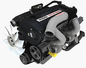 3D model Nissan RB26DETT engine