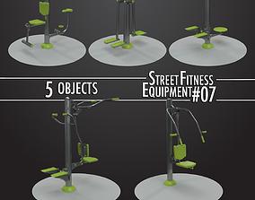 3D Street Fitness Equipment 5objects 07