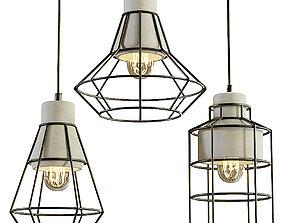 3D model Maytoni Gosford hanging lamp set