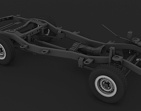 3D model ChassisToyota LC 80-105