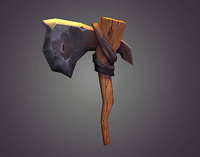 Axe cartoon 3D asset