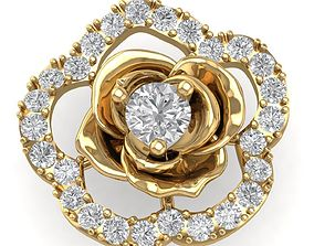 165 Rose Diamond Pendant 3D printable model