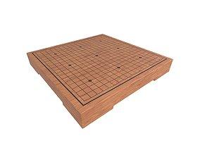 3D asset Go Game Board v1 002