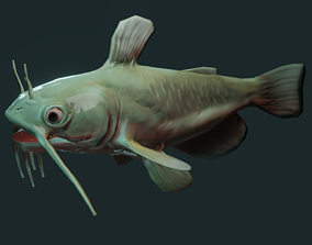 American catfish 3D asset