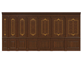 Wood panels 08 3D asset