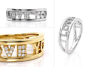 R 0250 Love You Ring 3D print model