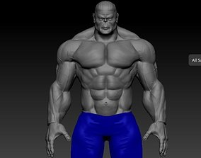 silver man 3D model game-ready