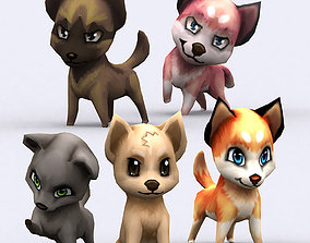 animated 3DRT - Chibii Dogs