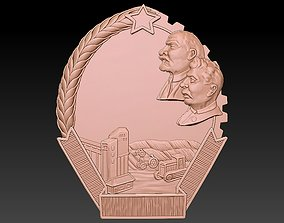 Badge man Lenin Stalin 3D print model