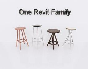 Bar chair Revit Family - Full parametric 3D