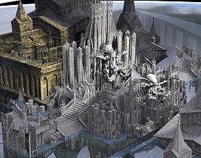 3D model Deep alien Cult Temples 1 kit bash