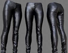 3D asset Leather Biker Pants