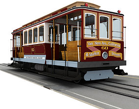3D model rigged San Francisco Cable Car