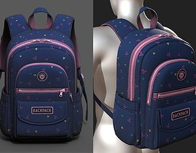 Backpack Camping bag baggage pockets product 3D asset