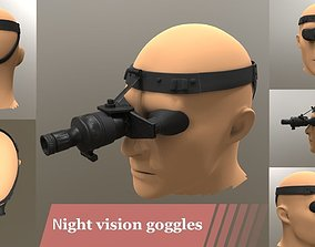 3D asset Night vision goggles tactical mask GAME ready