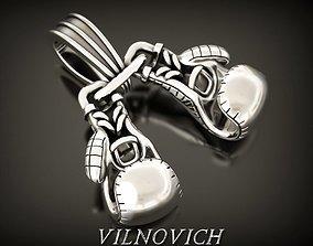 3D print model Boxing gloves pendant