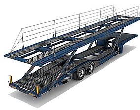 Car transporter trailer 3D asset