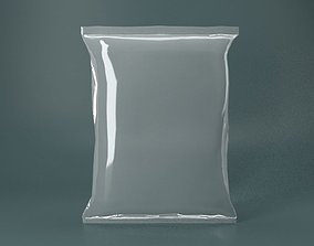 Plastic Packet transparent 3D