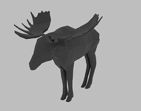 3D model Low Poly Moose