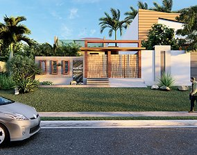 Architectural Scene - 2D Plan - Exterior Render animated 3