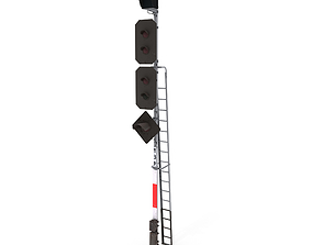 3D Train Traffic Light 21