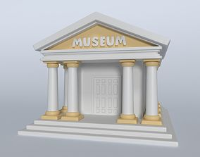 Cartoon Museum 3D asset