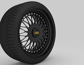 BBS Super RS rim With Tire 3D model