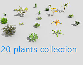 3D asset realtime low poly foliage pack