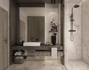 3D Bathroom toilet