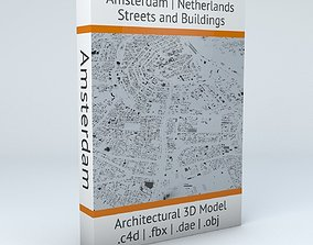 3D model Amsterdam Streets and Buildings