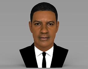Denzel Washington bust 3D model ready for full color 3D