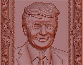3D Donald Trump Bust model