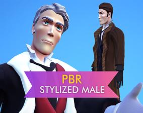 Stylized English Gentleman Male Model - LowPoly 3D asset 1