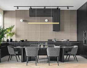 Modern Kitchen 3D kitchenware
