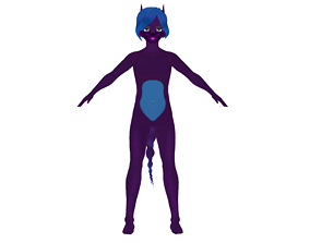 rigged ASIAN FOX MAN 3D MODEL RIGGED T POSE SHAPE