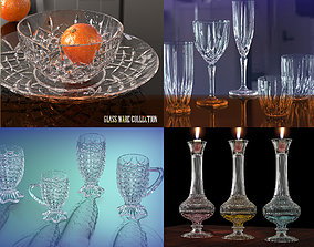 Crystal glassware collection 3D model