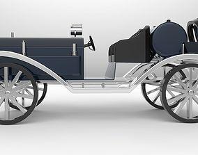 vintage car large-truck 3D model