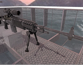 Unity3D 5 - 4 PBR Gun package - low-poly