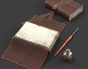 Dipping Ink Pen with Diary 3D model