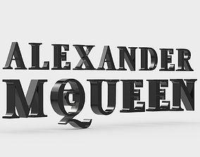 3D alexander mcqueen logo